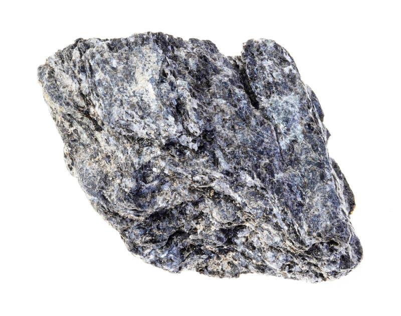 сырцовый камень сланца биотита кварца на белизне стоковые изображения rf