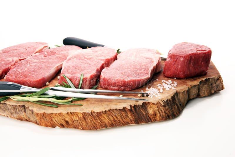 сырцовый стейк Стейк глаза нервюры барбекю, сушит постаретый стейк Wagyu Entrecote стоковое изображение
