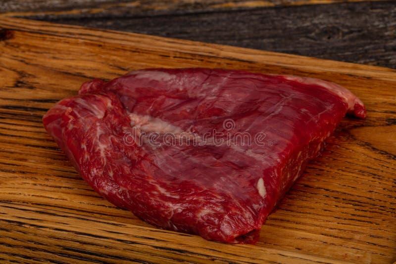 Сырцовый стейк фланка говядины стоковые фото