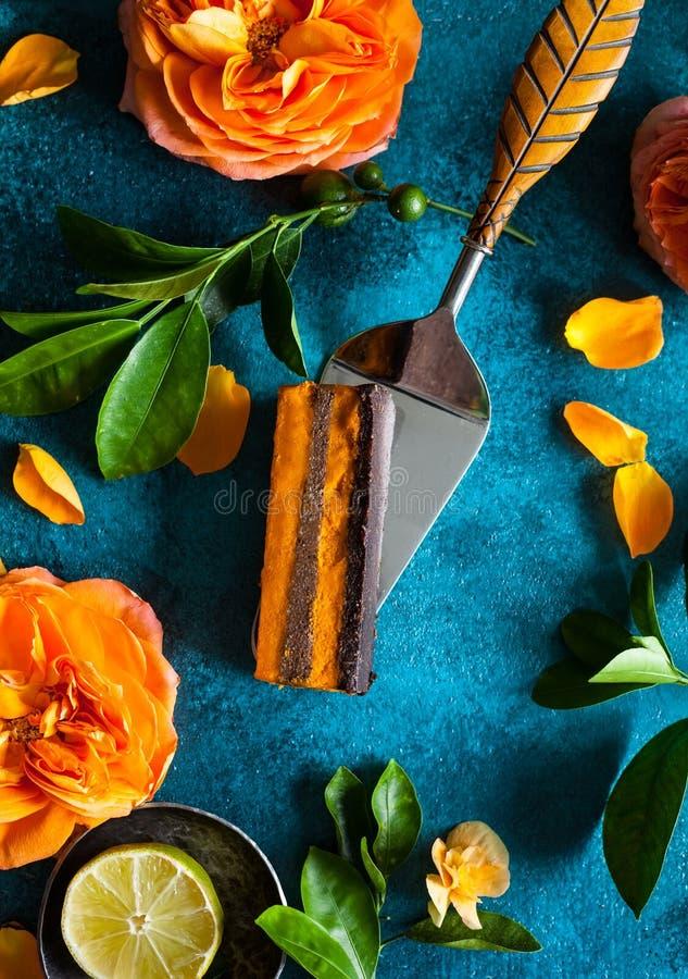 Сырцовый торт vegan стоковое изображение