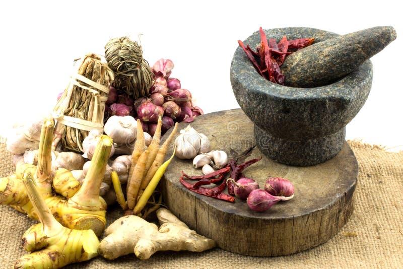 Сырье для тайской еды стоковые фото