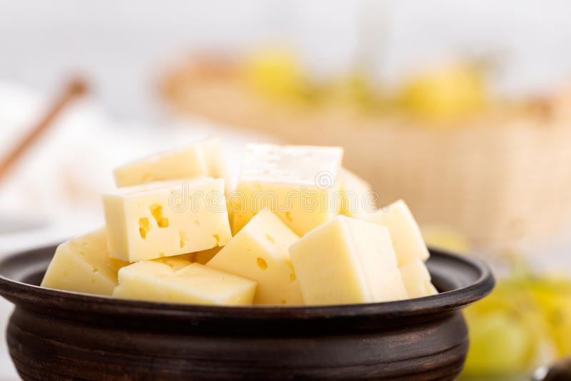 Сыр и виноградина стоковые изображения