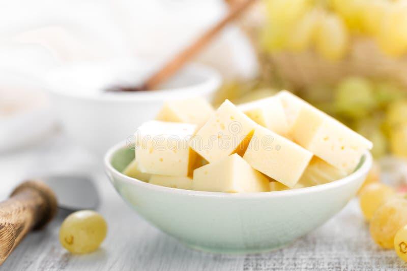 Сыр и виноградина стоковое изображение rf