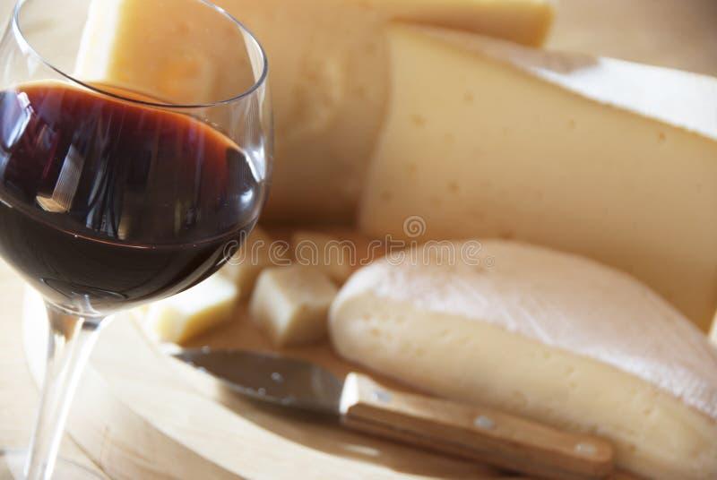 Сыр и вино стоковое изображение