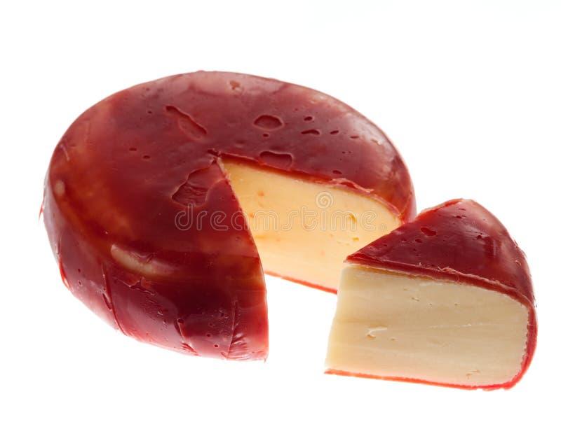 сыр покрыл воск голландского gouda edam круглый стоковые фото