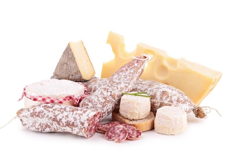 Сыр, сосиска стоковые изображения