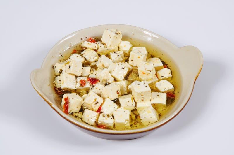 Сыр фета с травами в масле. стоковое фото rf