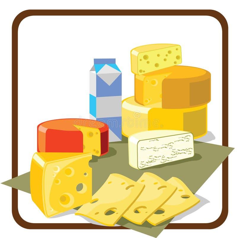 сыр иллюстрация вектора