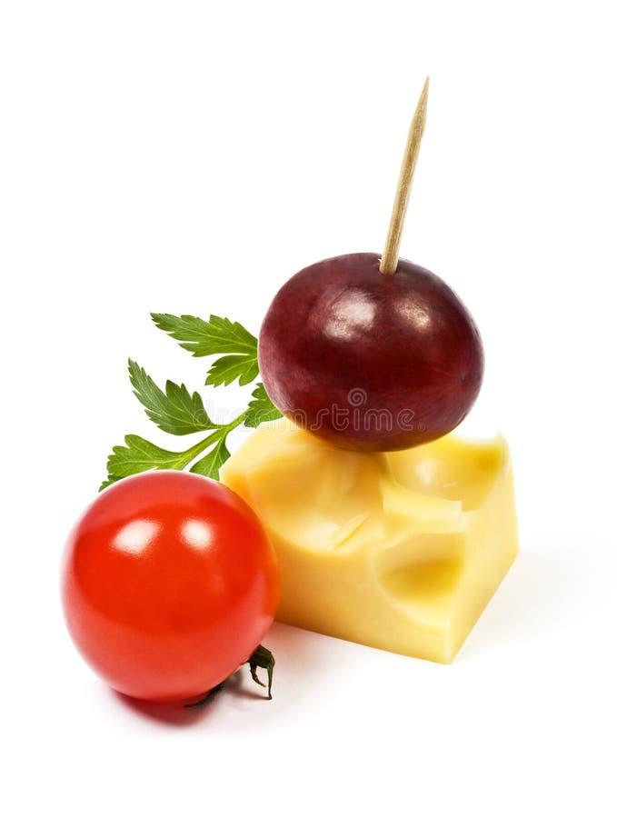 сыр canapes стоковое изображение