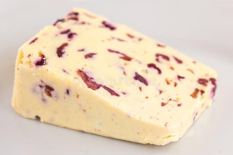 Сыр Wensleydale и клюквы стоковые изображения rf