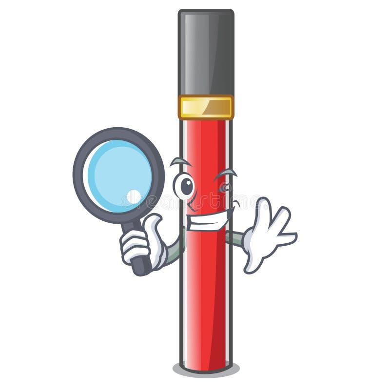 Сыскной лоск губы изолированный в талисмане иллюстрация штока