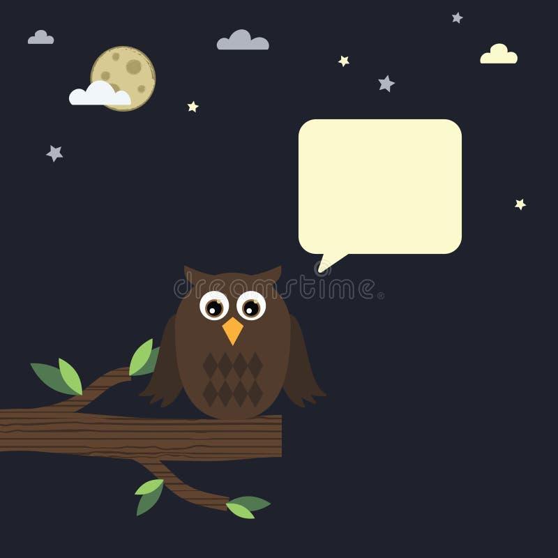 сыч ночи иллюстрация штока