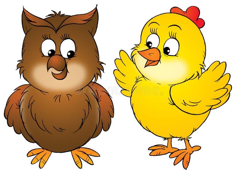 сыч цыпленка бесплатная иллюстрация