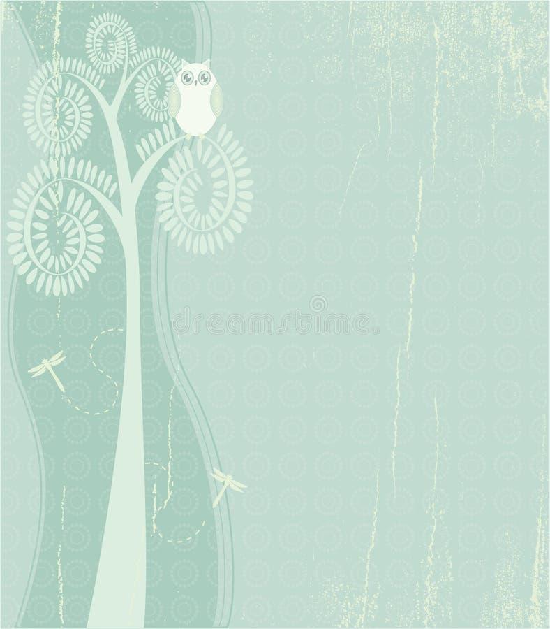 сыч dragonflies иллюстрация штока