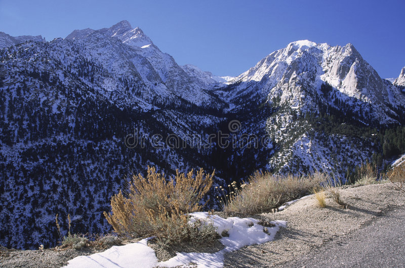 Сьерра зима Невады гор california стоковое фото rf