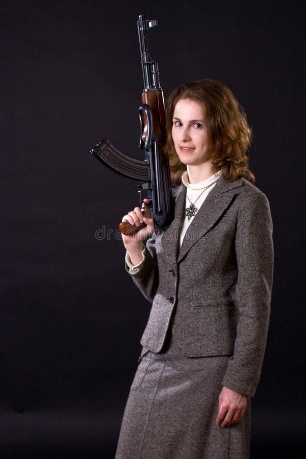 Сь пушка submachine wtith коммерсантки стоковая фотография rf