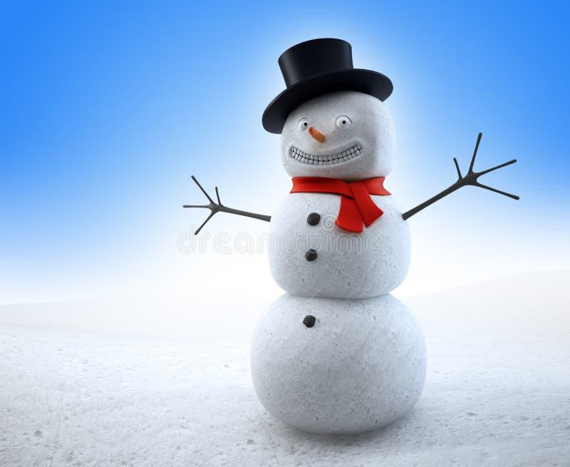 сь снеговик иллюстрация вектора