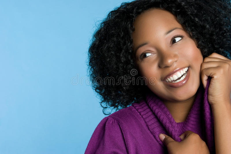 Сь черная девушка стоковое фото