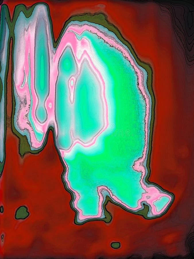 Сюрреалистическое возникновение кричащих цветов иллюстрация вектора