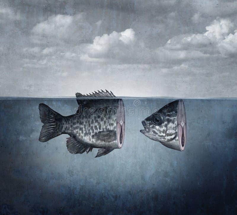 Сюрреалистическое искусство рыб иллюстрация вектора