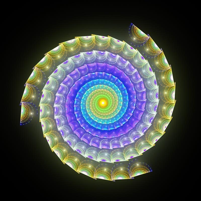сюрреалистическая спиральная змейка 3D иллюстрация вектора