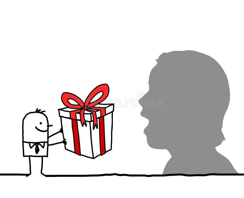 сярприз подарка иллюстрация штока