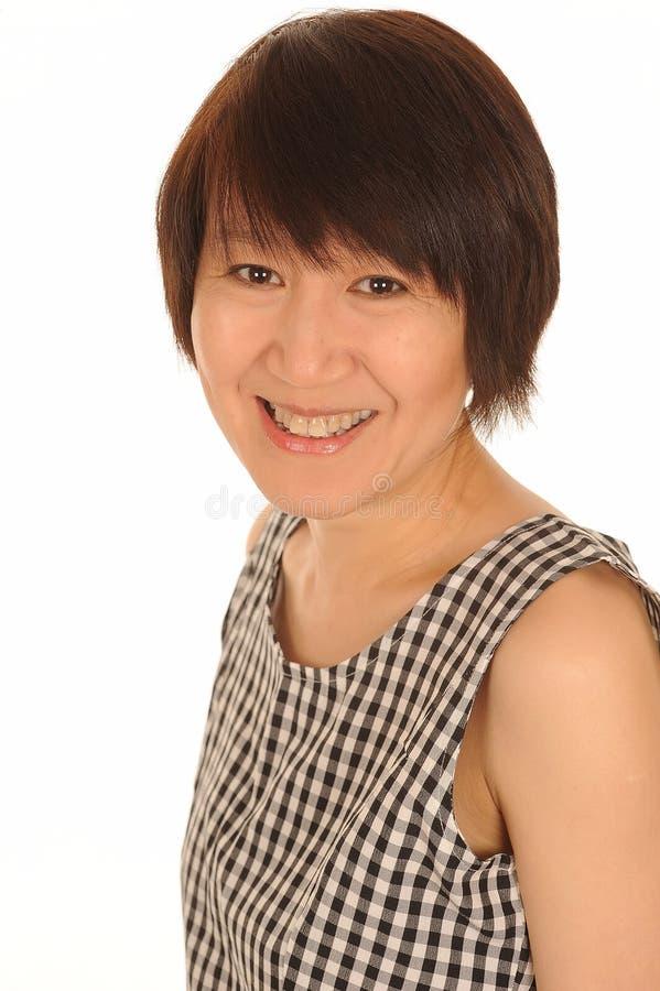Ся азиатская женщина стоковое изображение rf
