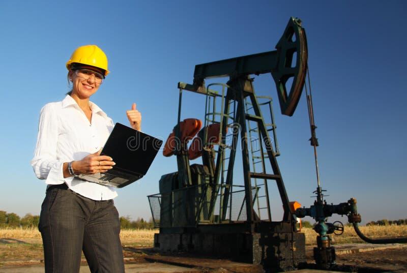 Ся женский инженер стоковые изображения