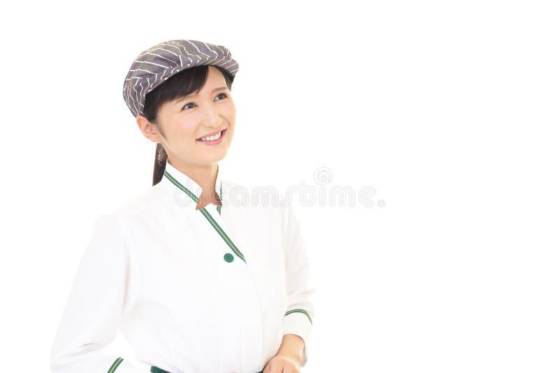 ся официантка стоковое изображение