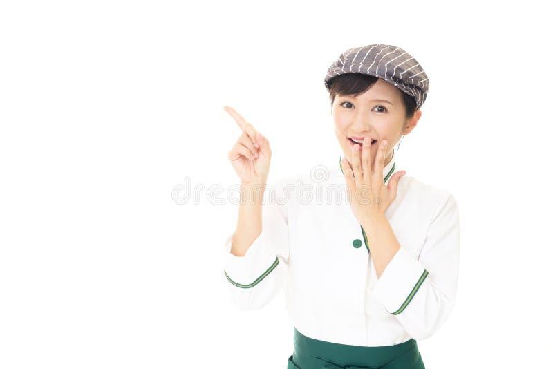 ся официантка стоковая фотография