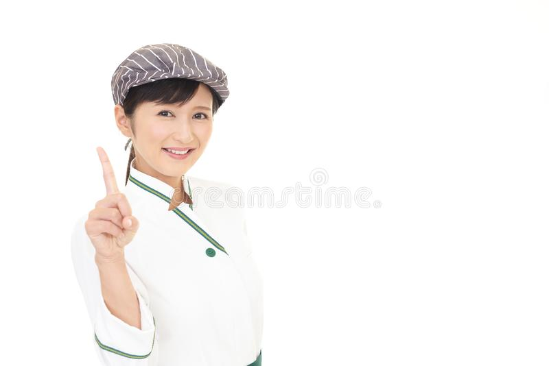 ся официантка стоковая фотография rf