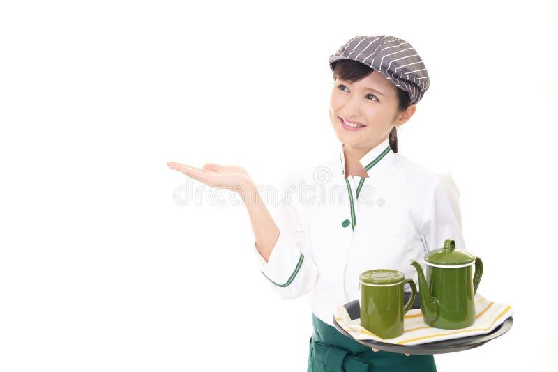 ся официантка стоковое изображение rf