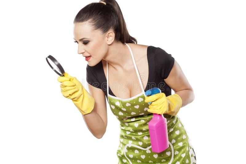 Слабонервная модная домохозяйка стоковые изображения rf