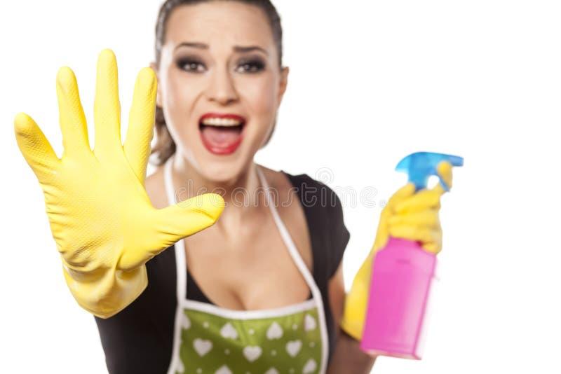 Слабонервная домохозяйка стоковая фотография