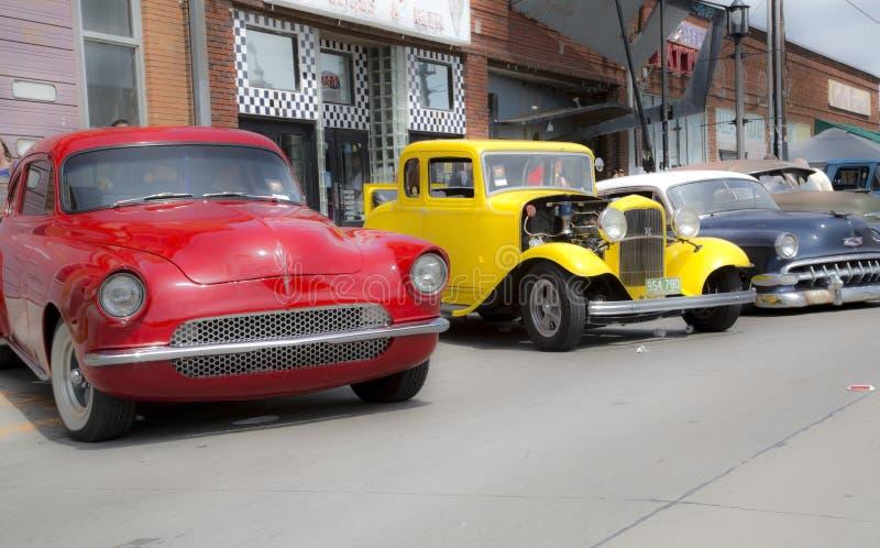 Славная винтажная выставка автомобиля стоковое изображение