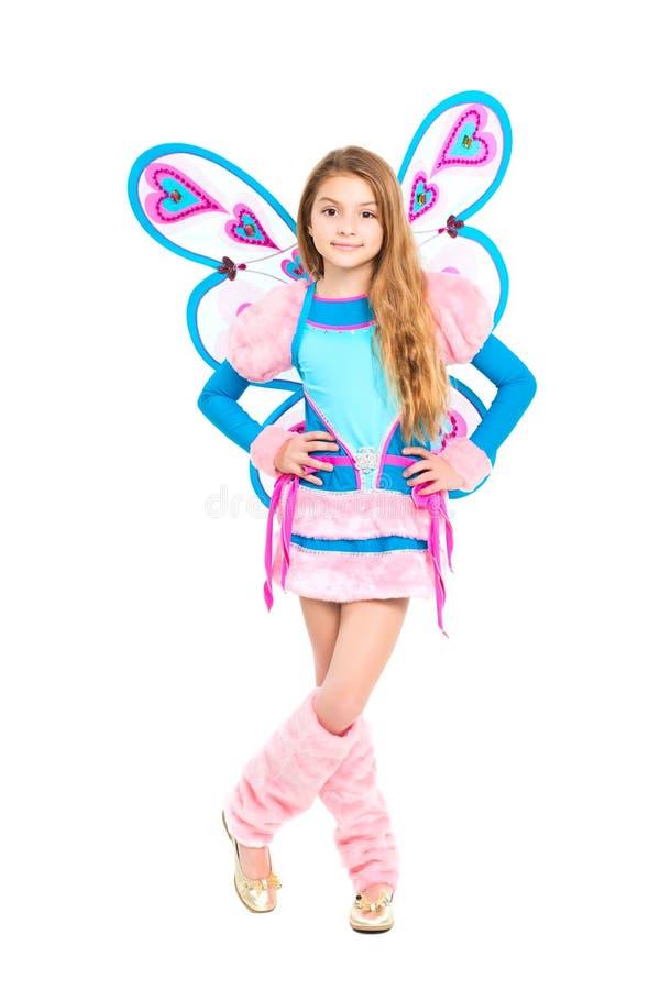 Славная девушка в fairy костюме стоковая фотография rf