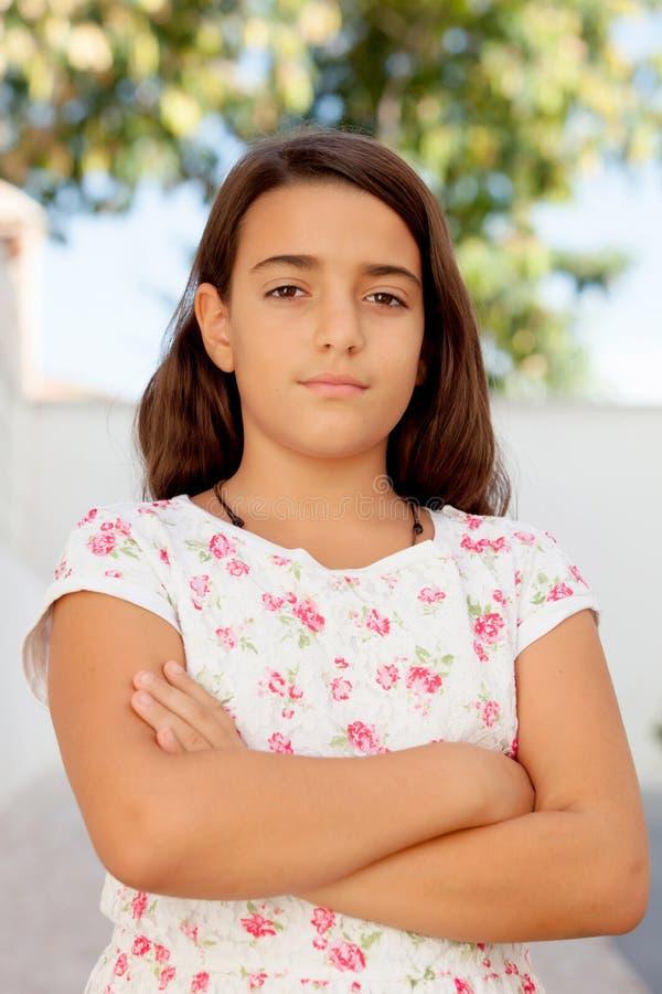 Славная девушка ребенка десятилетняя стоковые фото