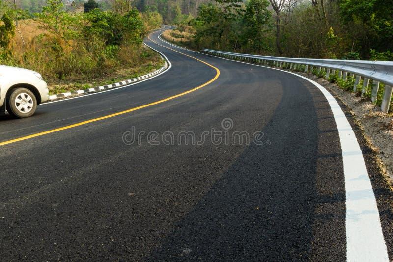 Славная дорога асфальта стоковая фотография rf