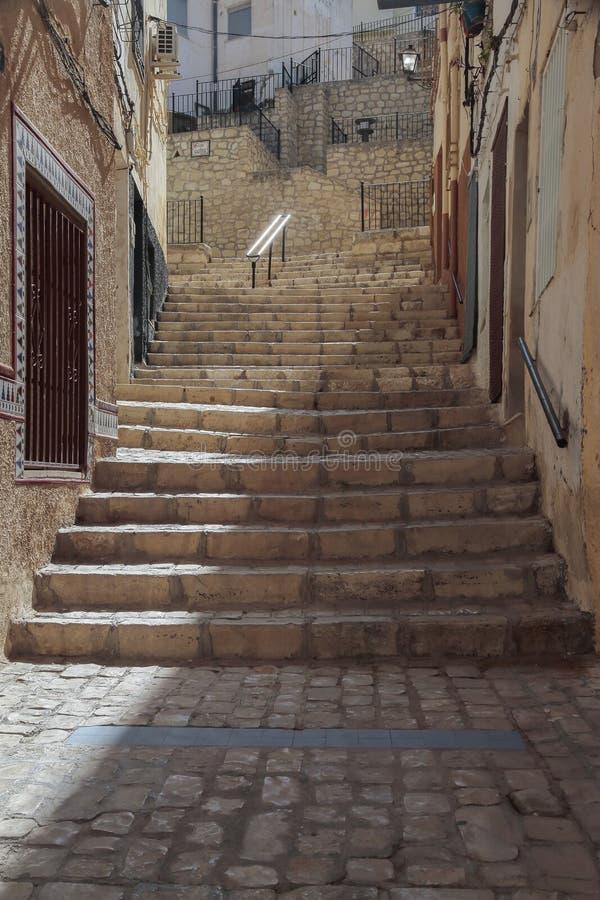 Славная улица в Petrer стоковые фото