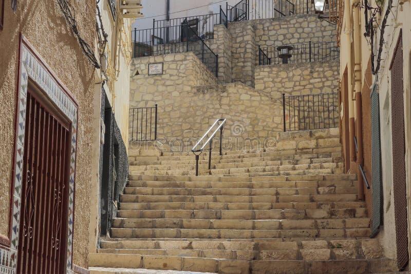 Славная улица в Petrer стоковое изображение