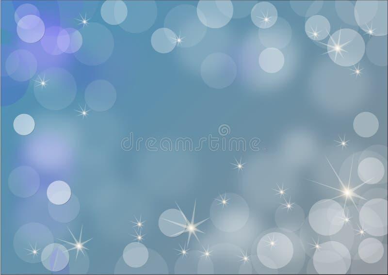 Славная холодная голубая предпосылка иллюстрация штока