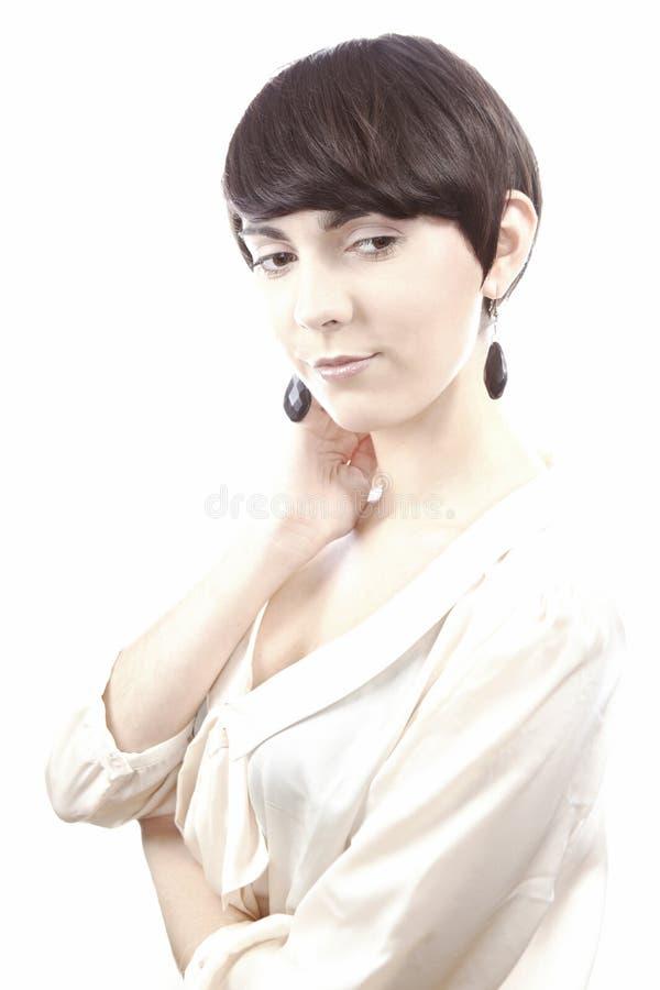 Славные короткие волосы brunete стоковые фото