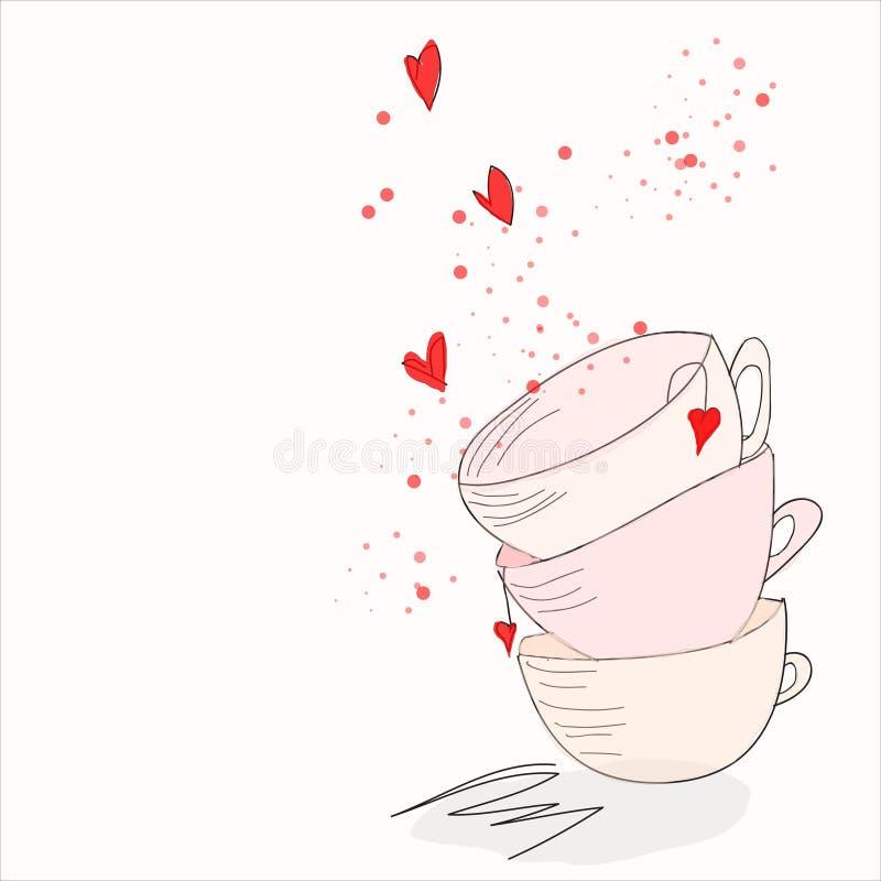 Славные чай и кофе утра бесплатная иллюстрация