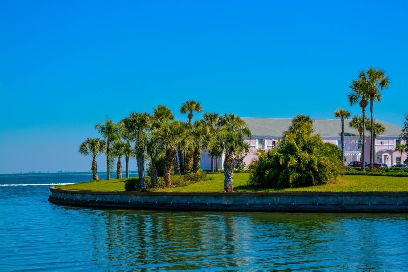 Славный взгляд полуострова на Tampa Bay стоковые фотографии rf