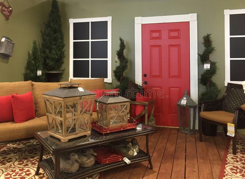 Славный дизайн живущей комнаты стоковое фото rf