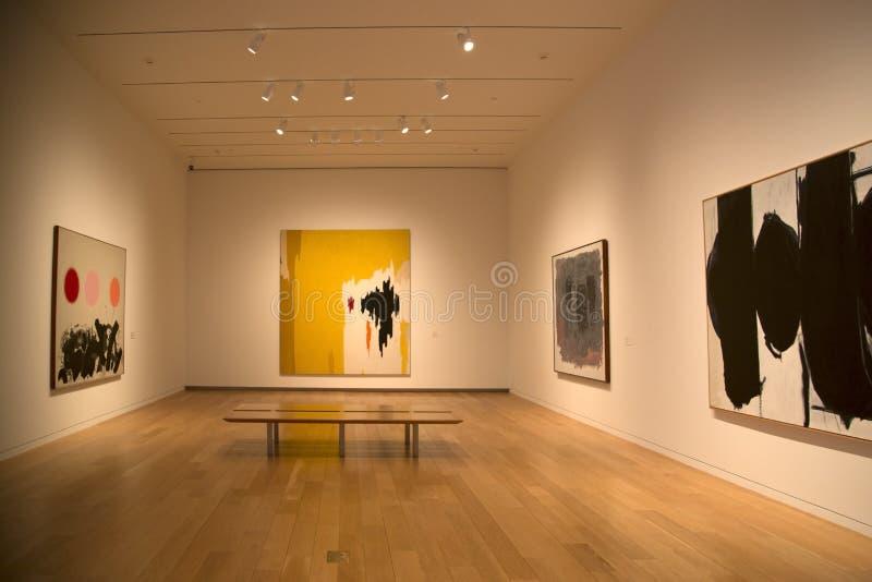 Славный интерьер музея современного искусства стоковое фото