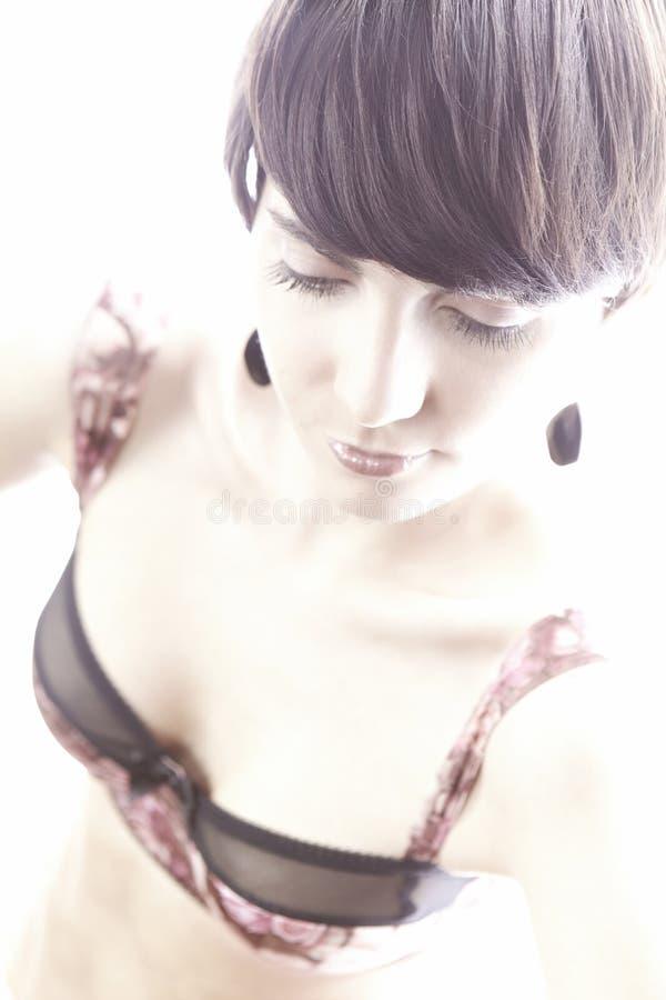 Славный сексуальный brunete стоковое изображение rf