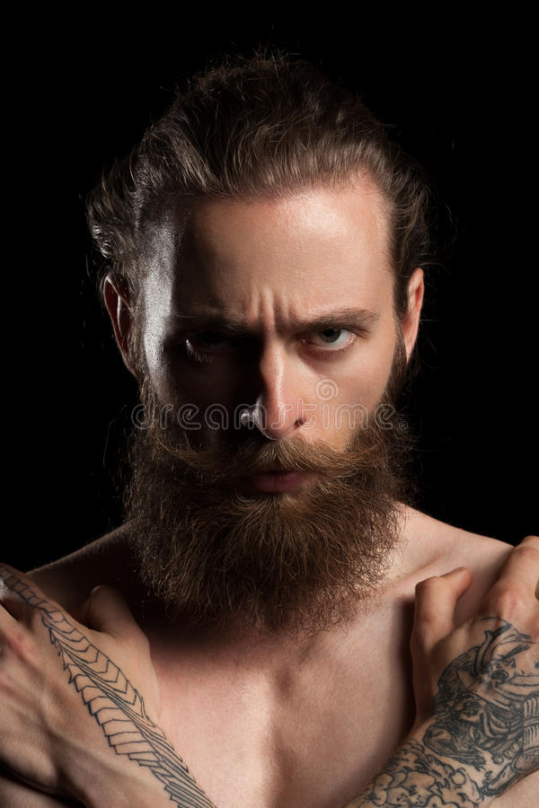 Славный смотря мачо бородатый битник стоковое изображение