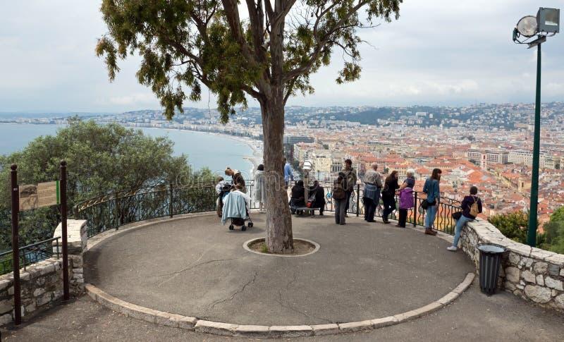 Славный - точка зрения на холме замка стоковое изображение