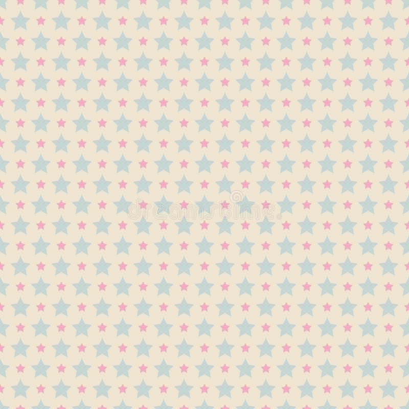 Сладостная милая безшовная картина Пинк и голубое затрапезное иллюстрация вектора